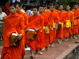 Monks in Laung Prabang