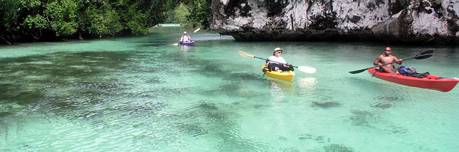 Palau sea kayaking - Boundless Journeys
